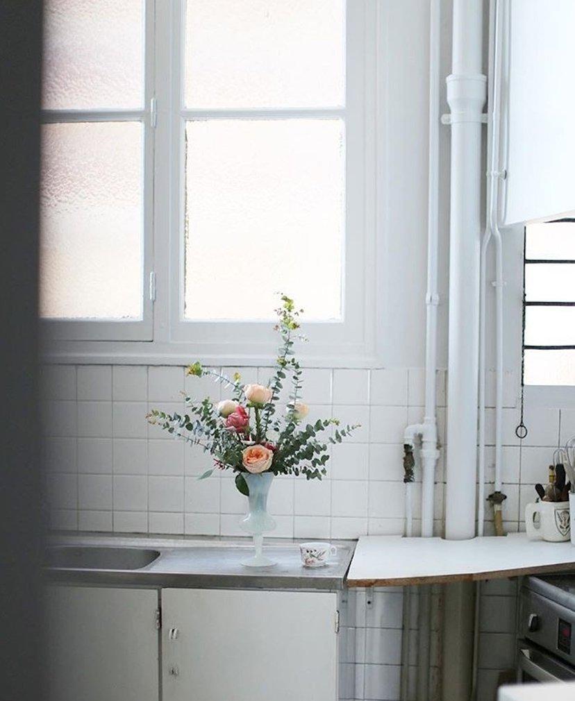 cocina y flores